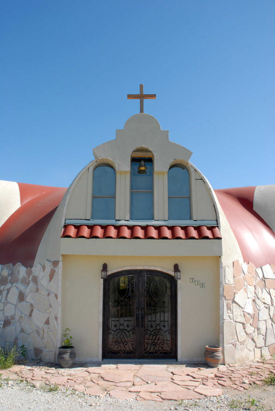 Here is a view of the front entrance from the outside. It truly does resemble a Spanish church.