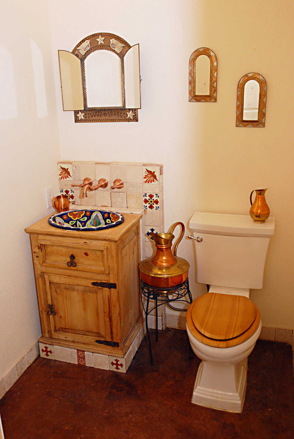 This guest bathroom – one of four – reflects the dome's Spanish motif.