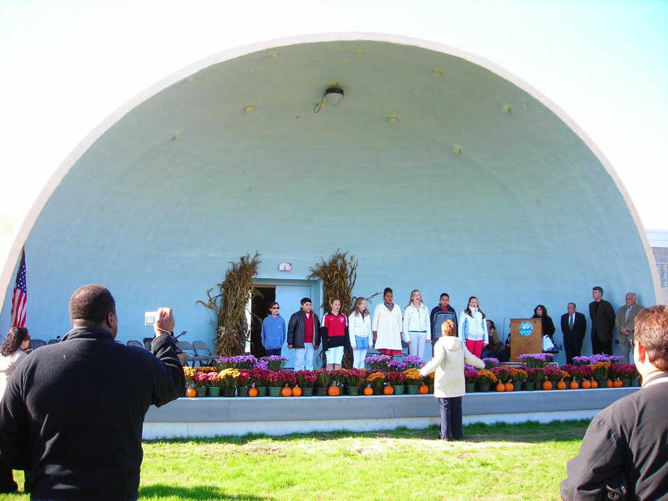 Monolithic Ecoshell Bandshell: Shore Front Park, Patchogue, New York 2007