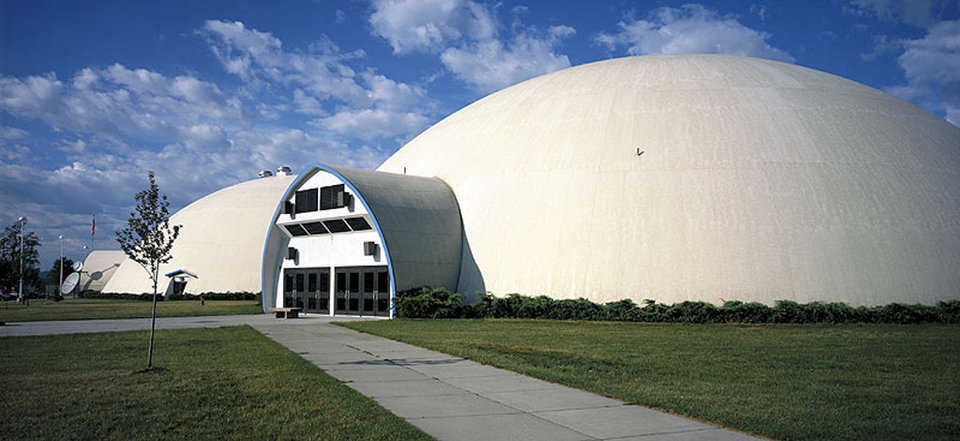 Emmett High School — Located in Emmett, Idaho, this five-dome facility was the first Monolithic Dome school built.