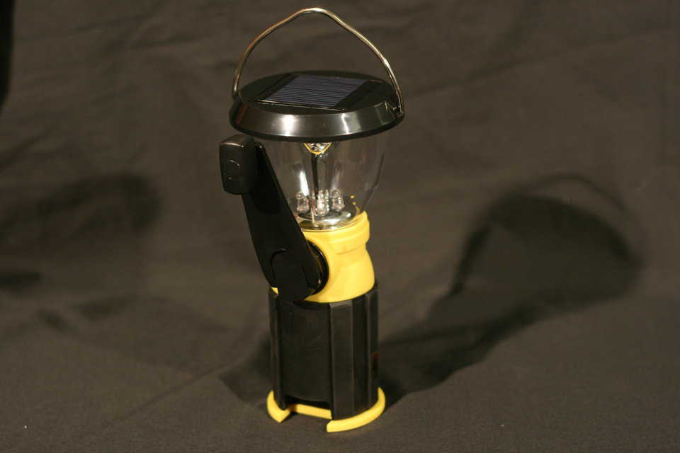 The lantern provides virtually lifetime light, so you can use it anytime, and it can run a cell phone.