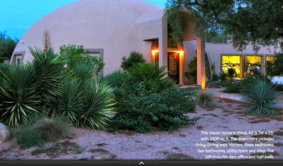 Step 8 – Enjoy: Dome Living has been specifically designed to be reviewed on digital devices. Its images are bright and colorful — much more colorful than art work in most printed books. Its house plans are digital floor plans, so you can zoom in on details and see them clearly. And its copy, including technical information, is easy to understand, practical and thought-provoking — a must-have tool for anyone planning a new home.