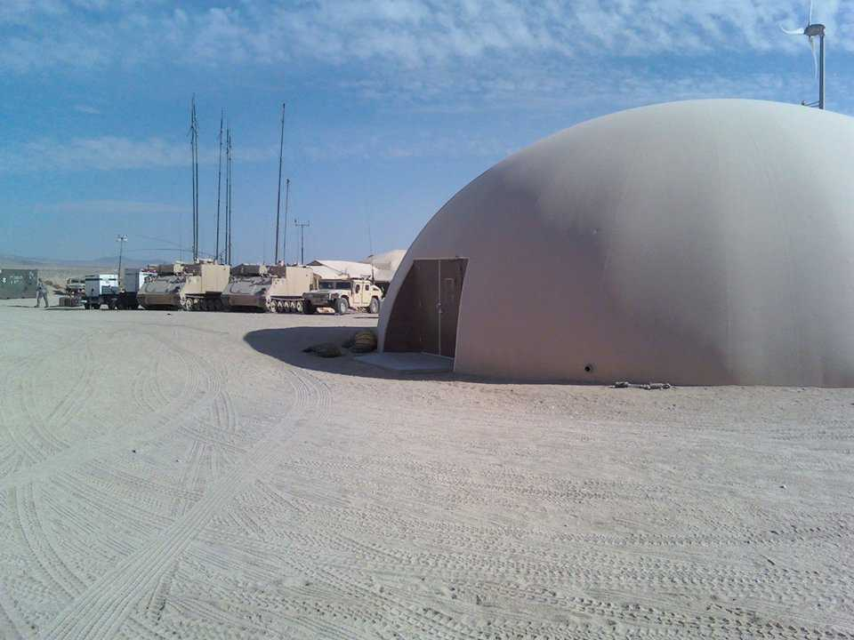 The second staging dome has a 75' diameter.