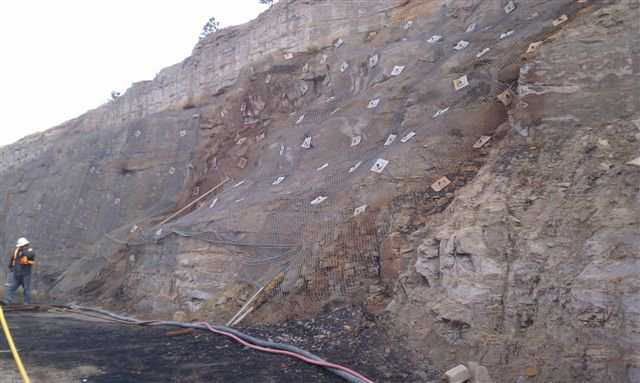 In 2011, South Industries of Menan, Idaho was hired to stabilize a mountain wall.