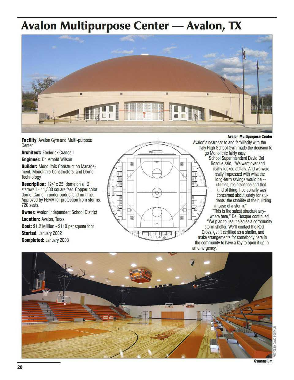 Sample pages – Avalon Multipurpose Center, Avalon, Texas
