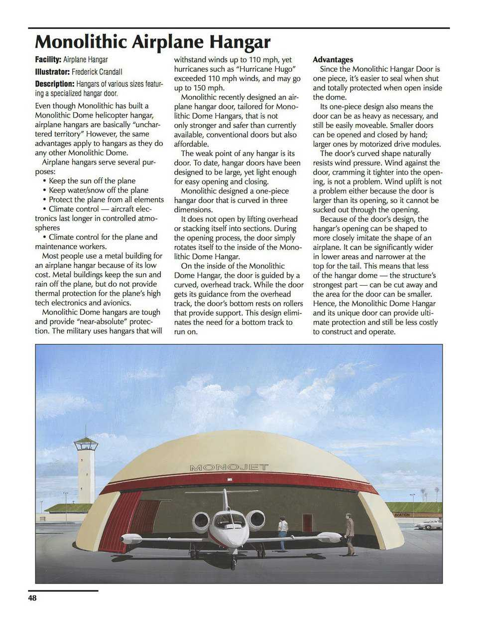 Sample pages – Monolithic Airplane Hangar