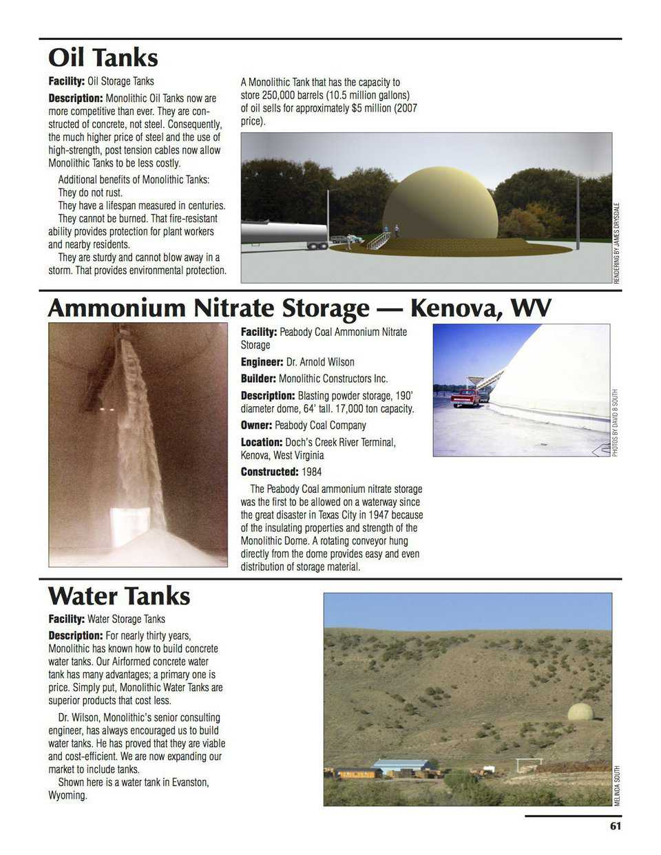 Sample pages – Oil Tanks