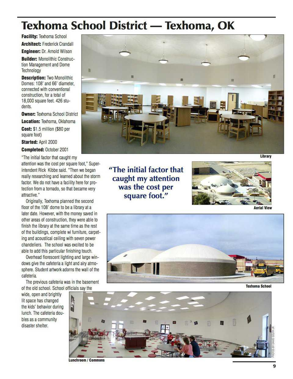 Sample pages – Texhoma School District, Texhoma, Oklahoma