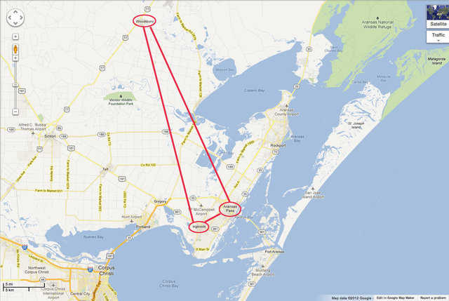 "David South said, ""This map shows the proximity of the cities involved. They are right on the coast, directly in hurricane alley. If any place in the world needs Monolithic Domes, it's hurricane alley. The domes will protect lives, and the fact that they can be built for no more than conventional, and generally less, is a miracle. Frank is trying to make this a better world in the 21st Century."""