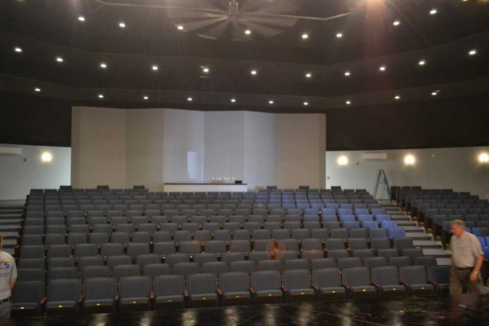 Spur's new auditorium can seat 450.