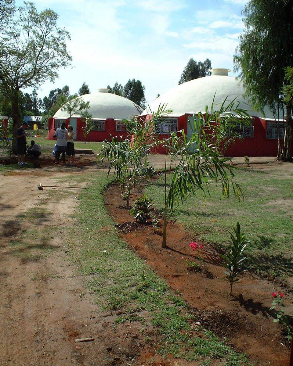 Here are two medical clinics built in Kenya, by hand, using Ecoshell I technology – extremely useful technology for low cost structures. Be sure to use Basalt reinforcing on the Ecoshells.