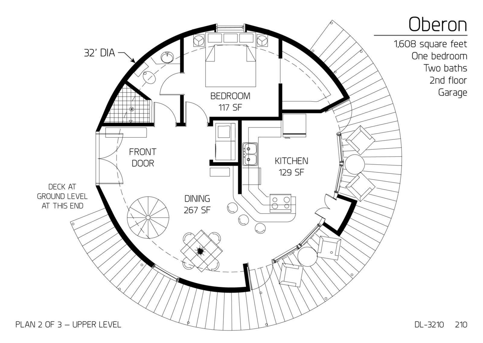 Floor Plan Dl 3210 Monolithic Dome Institute
