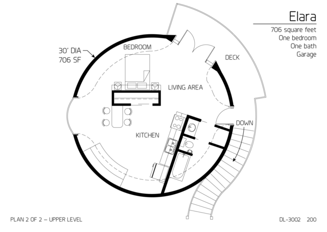 Floor Plans: multi level dome home designs | Monolithic Dome Institute