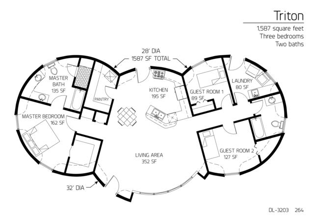 Floor Plan Dl 3203