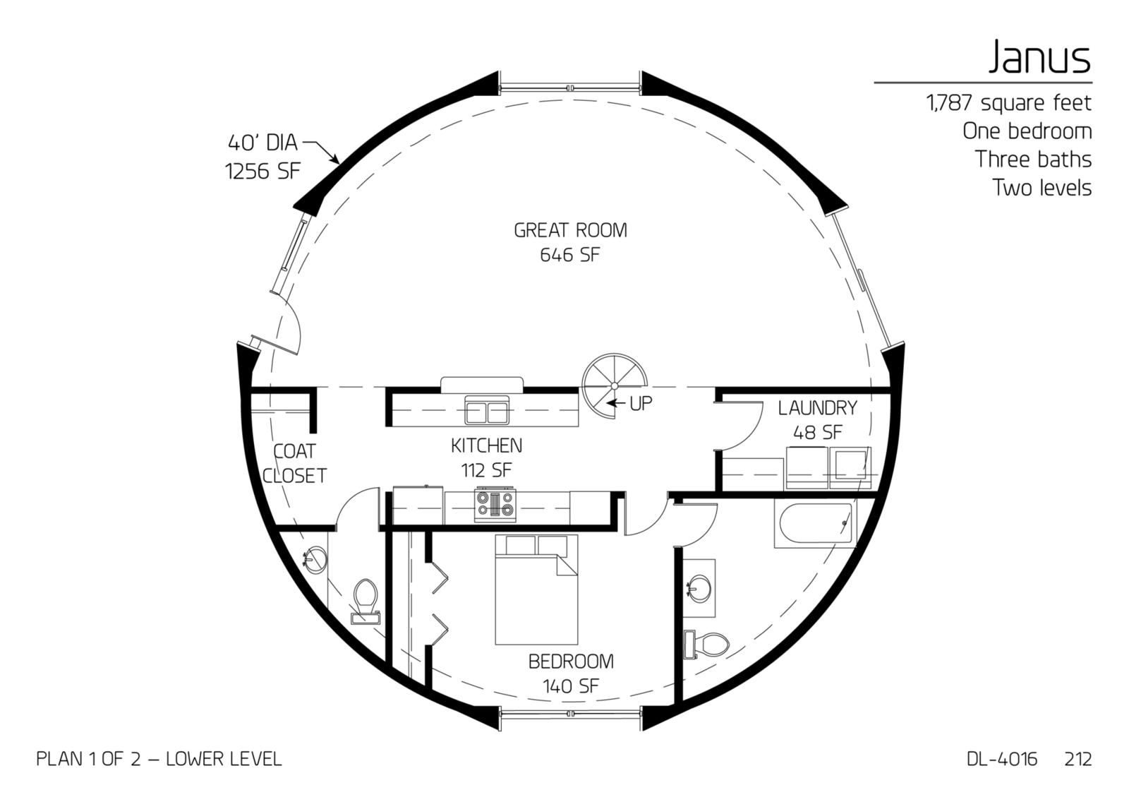 House Design Ideas Floor Plans: Monolithic Dome Institute