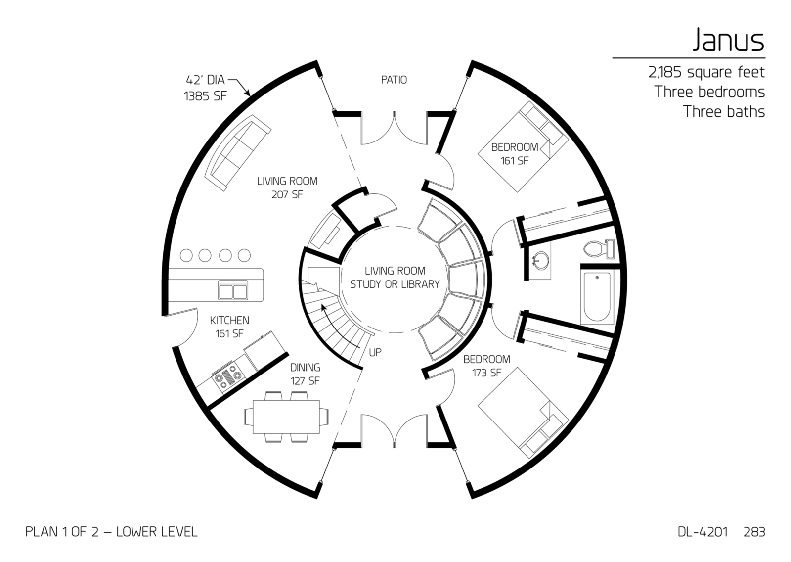 Floor Plan Dl 4201 Monolithic Dome Institute
