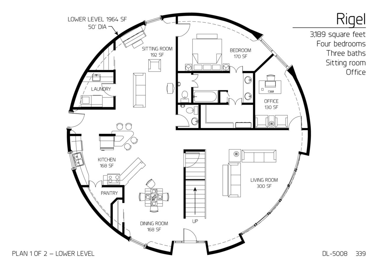 floor plan dl 5008 monolithic dome institute. Black Bedroom Furniture Sets. Home Design Ideas