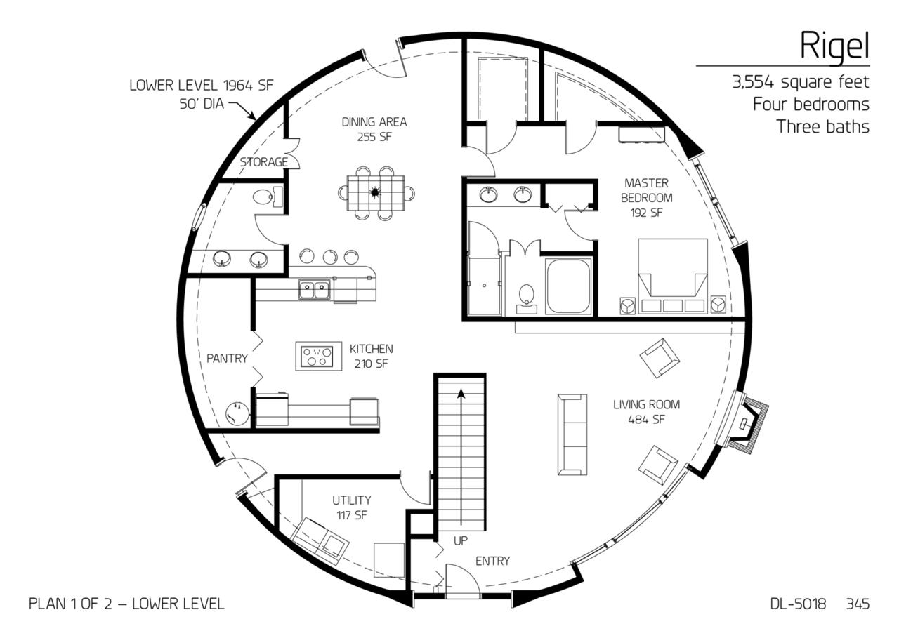 Round Homes Floor Plans: Monolithic Dome Institute