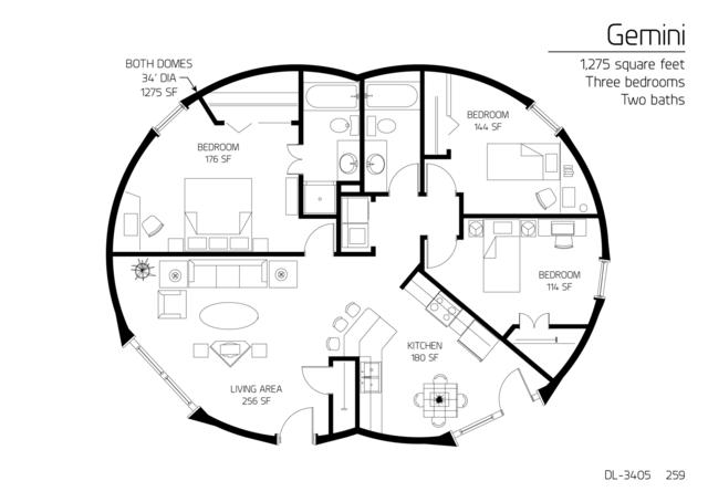 Gemini series monolithic dome institute for Gemini homes