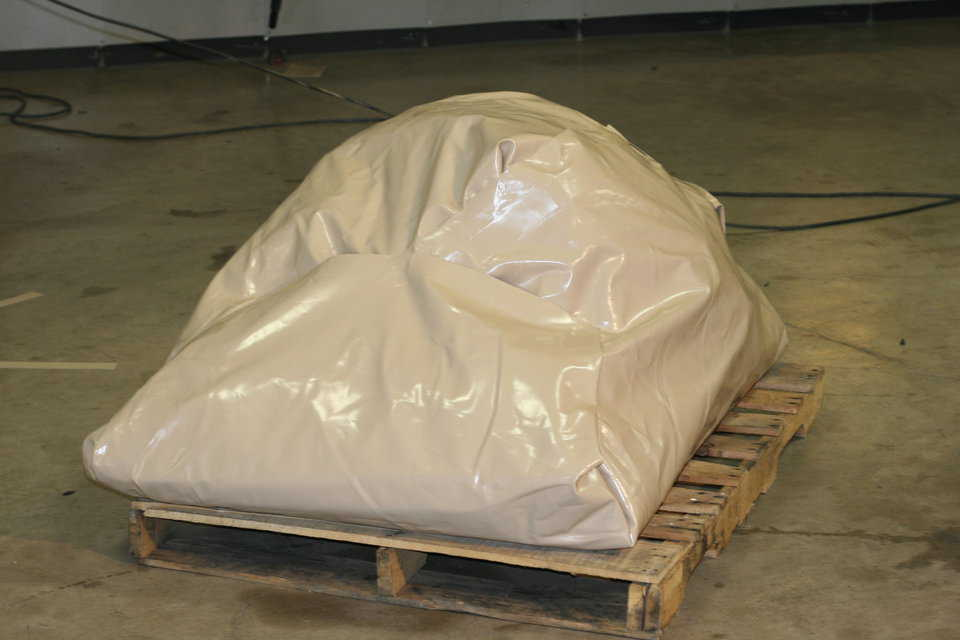 All of our membranes are wrapped in similar material for shipping.  These shipping wraps keep the membranes safe from abrasions and tears while shipping to the site.