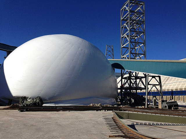 Monolithic's Airform being inflated.
