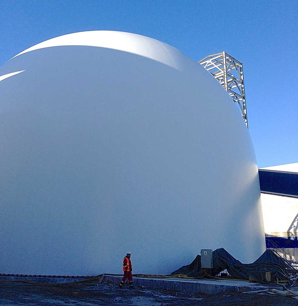 Newly inflated Airform is now ready for construction.