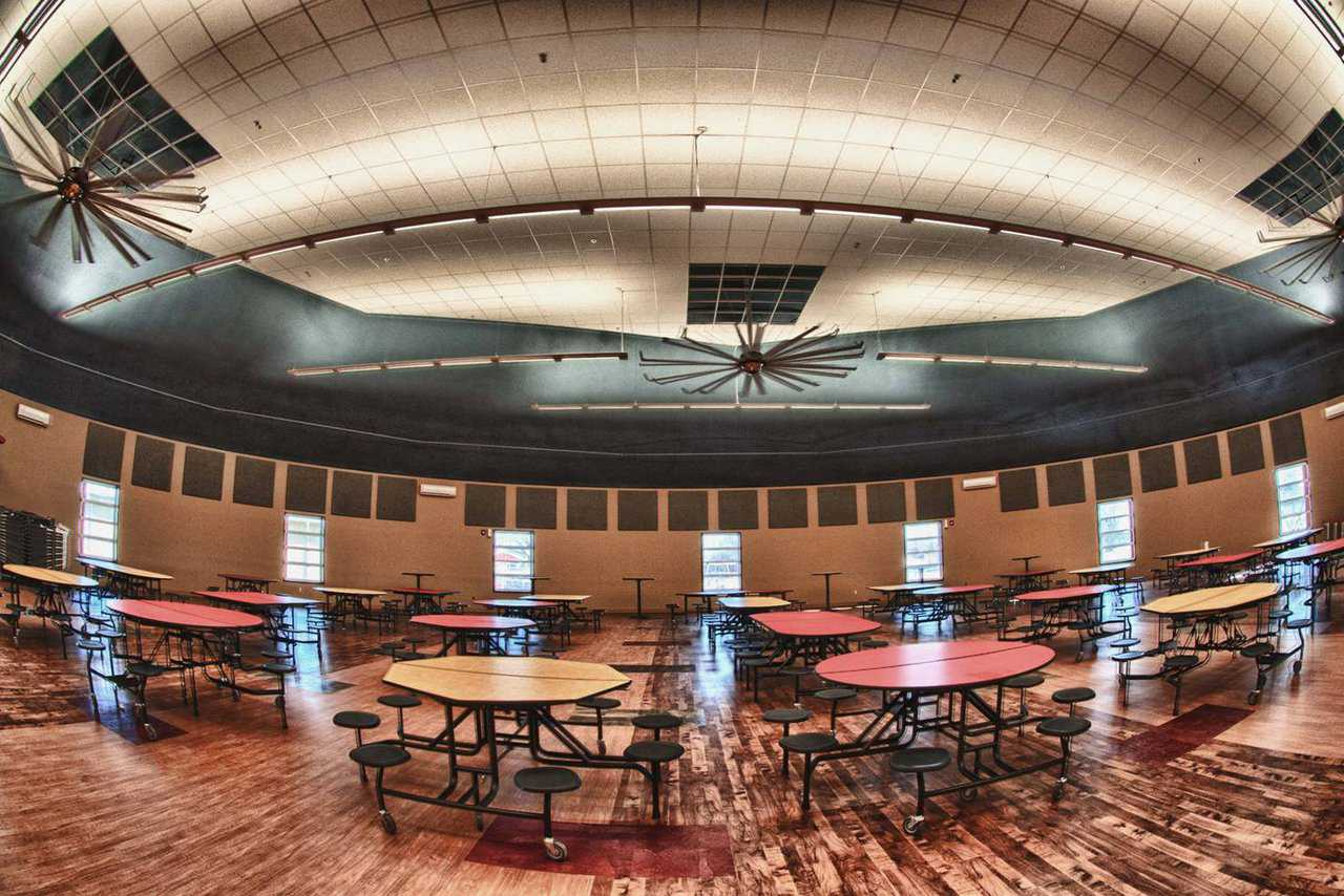 Dale, Oklahoma School: In case of a tornado, this dome can shelter all of Dale's students and staff plus a spillover of 400 to 500 community members.   See: http://www.monolithic.com/stories/monolithic-dome-cafeteria-at-dale-oklahoma