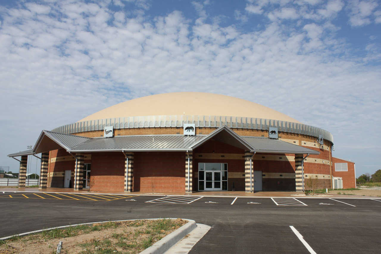 The Muscogee (Creek) Nation recently had a grand opening for its new $4 million Monolithic Dome multipurpose facility in Okmulgee, Oklahoma.   The 20,000-square-foot facility, which is adjacent to the existing sports complex, includes spectator seating, classrooms, concessions and several multi-use areas. It will be used for the many events the Muscogee (Creek) Nation hosts each year to share and preserve the tribe's tribal identity.   See: http://www.monolithic.com/topics/muscogee-nation