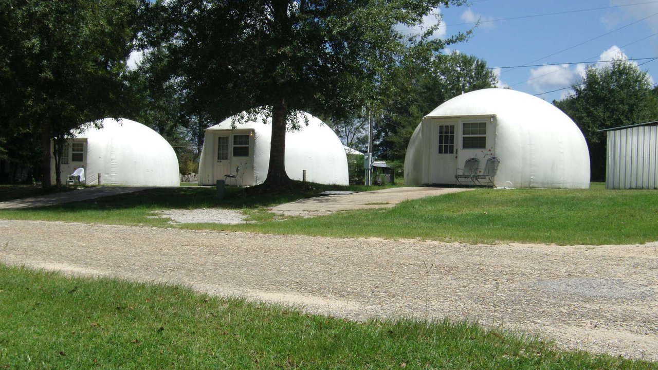 Dome rentals in Carriere, Mississippi are available for tour on Friday, October 18, 2013 and Saturday, October 19, 2013.