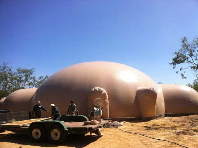 James and Dawn McKeand's Monolithic dome home under construction in Mexia, Texas.