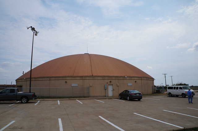 This is the dome in Avalon, Texas that we used for our test.  The anemometer was placed at the apex of the dome, on a new post.