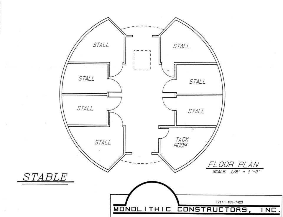 Sample layout of small horse stable.