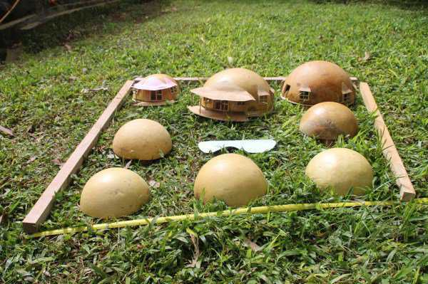 "Coconut model of future project of Indonesian dome builder, Antonius ""Yoss"" Yusanto."