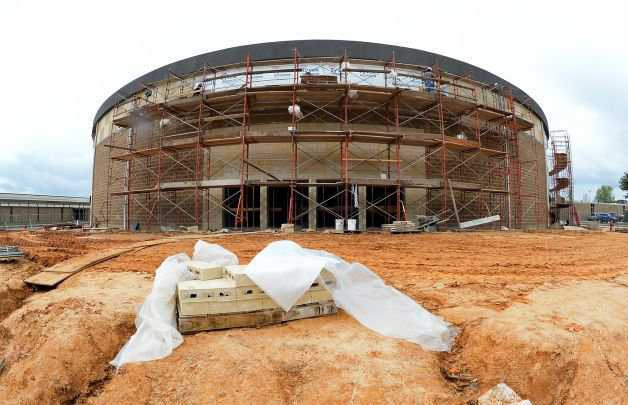 Lumberton ISD's Monolithic Dome Storm Shelter/Performing Arts Center under Construction.