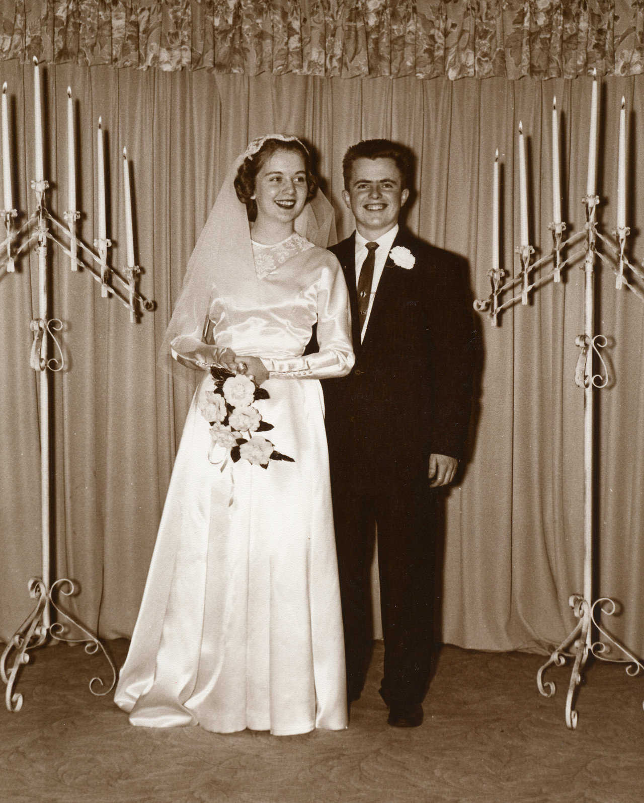 Judy and David B. South on their wedding day, February 20, 1959.