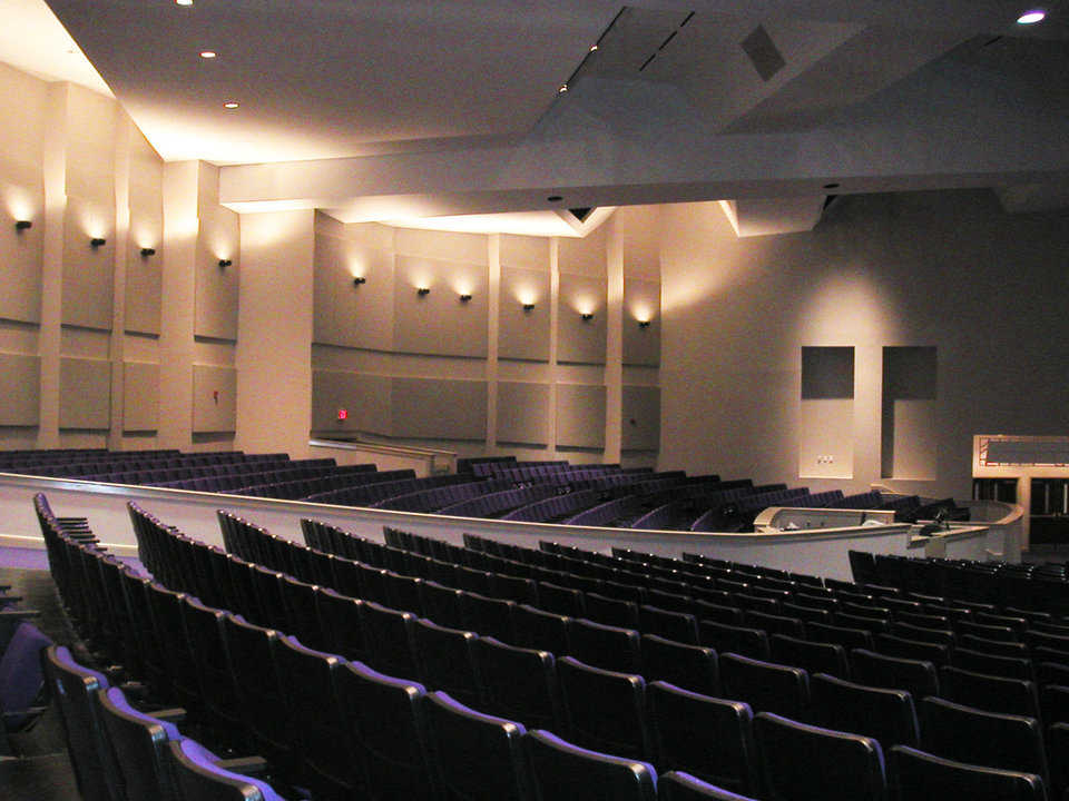 Sanctuary — It has a seating capacity for approximately 3,000.
