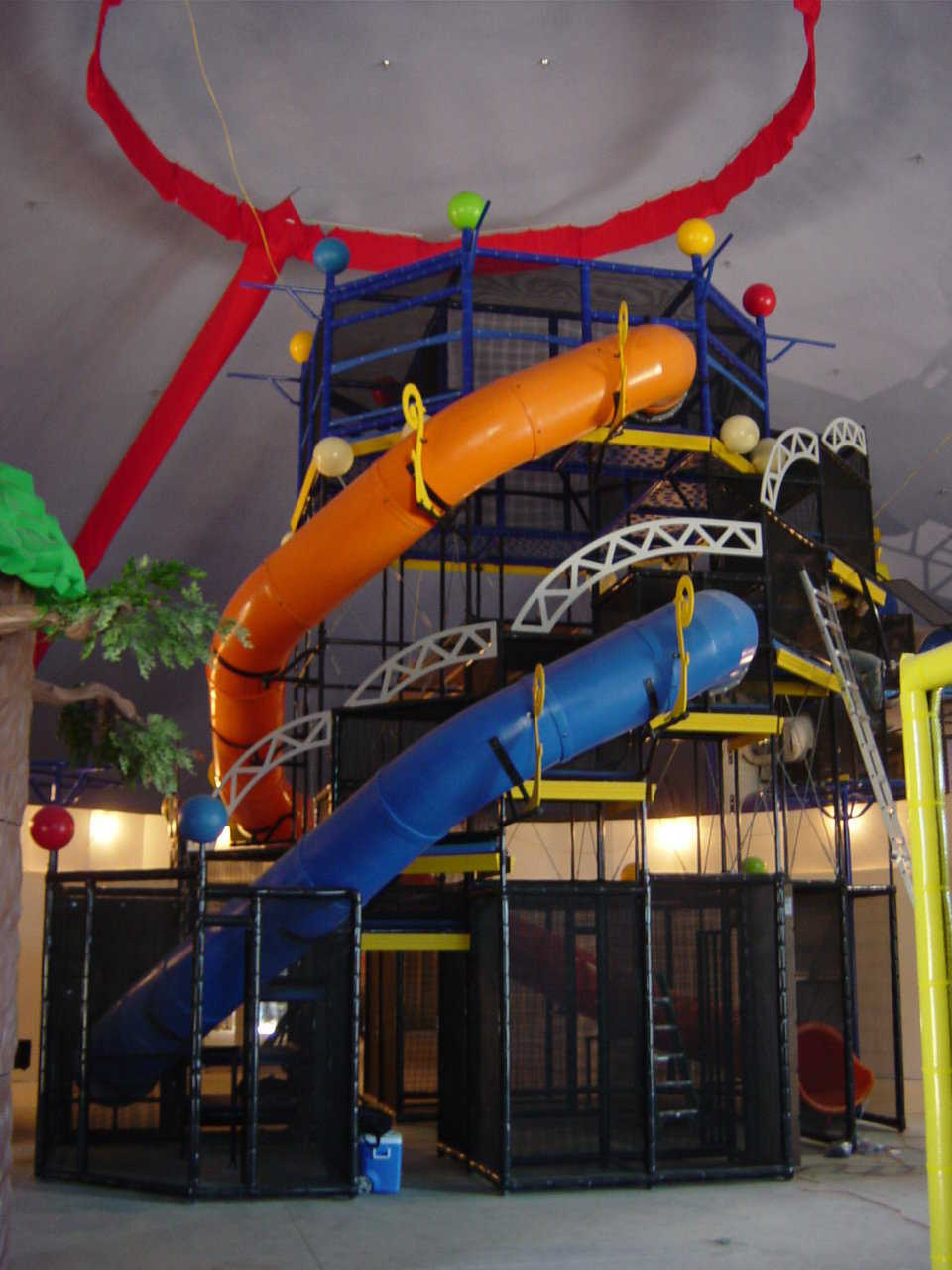 It's hard to imagine the amount of fun children can have in this Monolithic Dome. It's more than 15,000 square feet of vertical and horizontal play area. Faith Chapel church is designed for families, with seven-day-per-week activities.