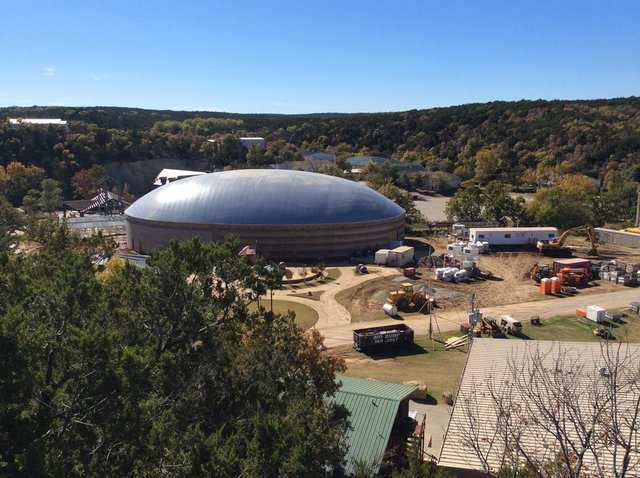 Construction of Monolithic Dome for event center.