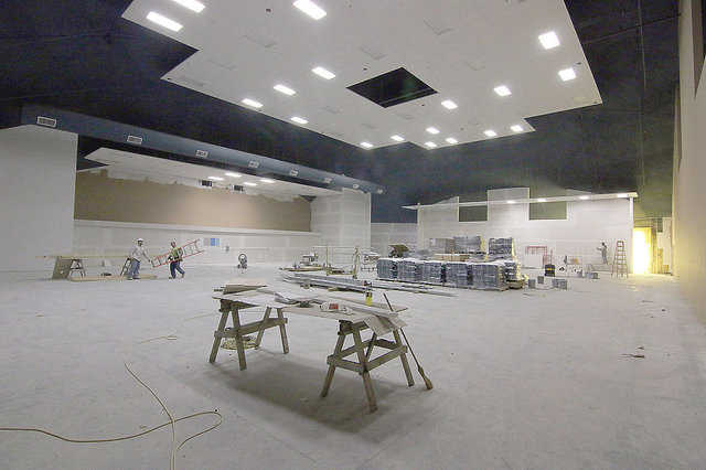 Santa Fe Trails High School main theater under construction.