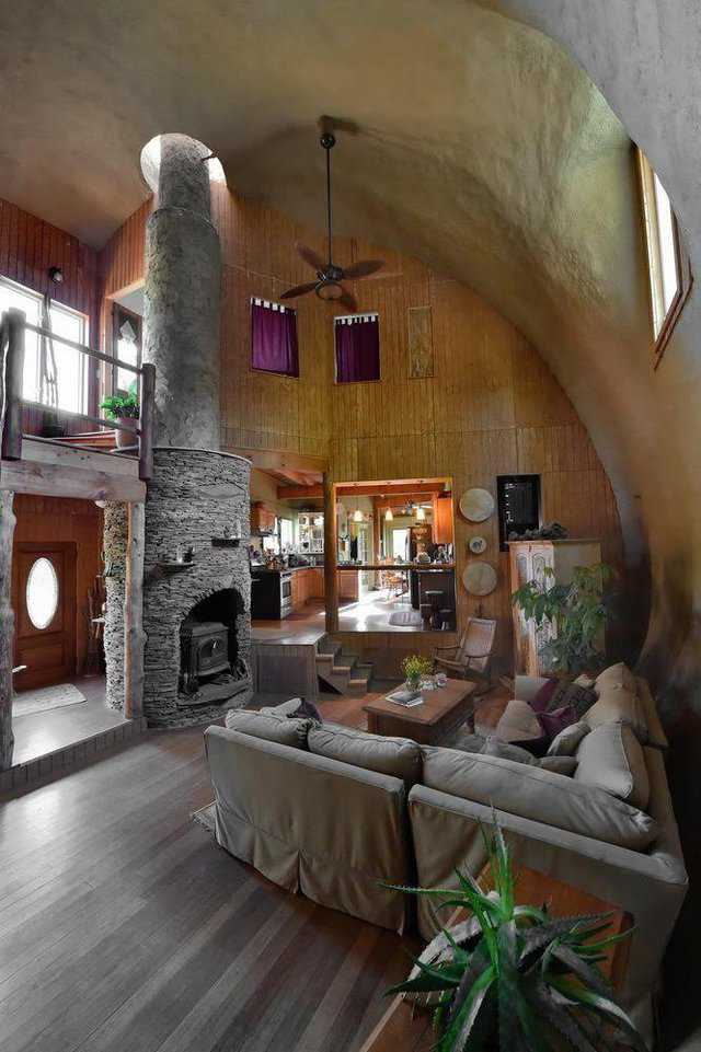 Chuck Peters made his fireplace the centerpiece of his living room.