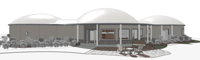 Another rendering of the back of the house.