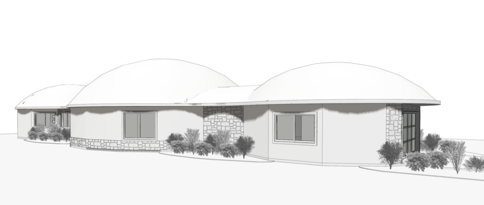 Rendering of the front.