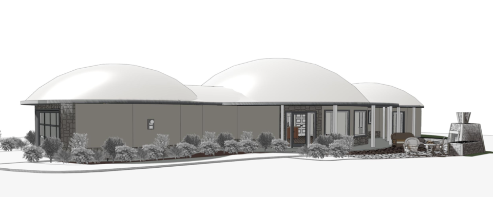 Rendering of the back.