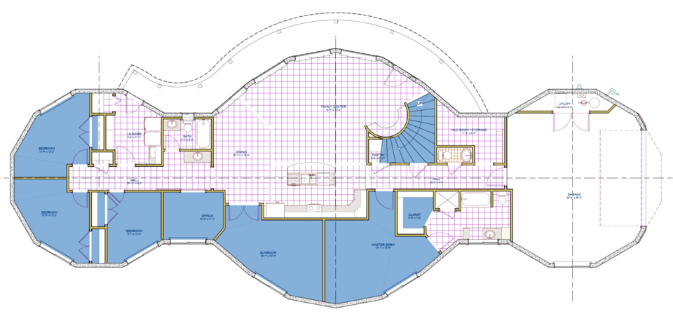 Main floor plan.