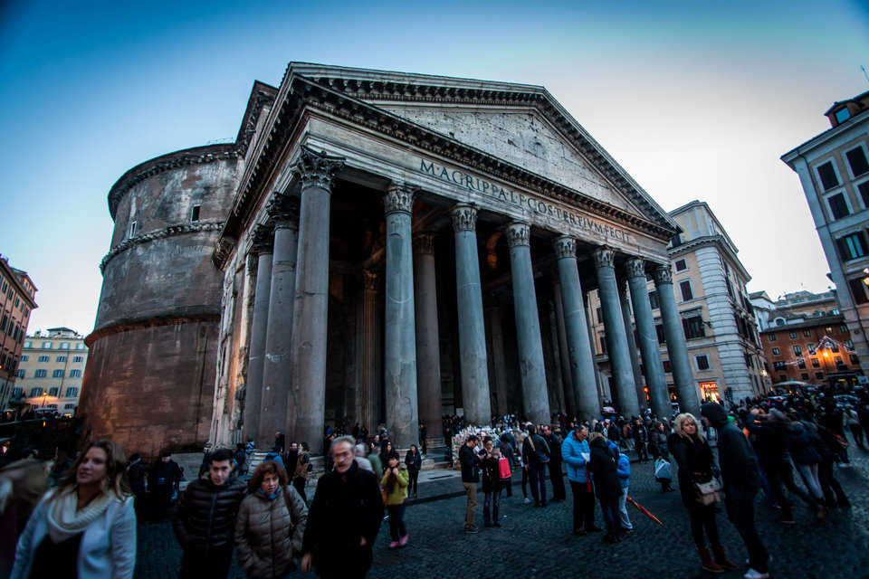 Visitors from all over the world visit the Pantheon, one of the oldest intact buildings of antiquity.