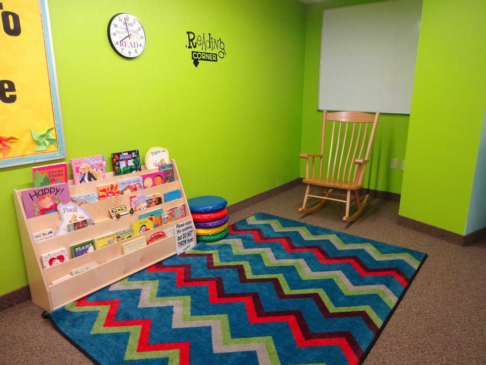 Kasson library reading corner