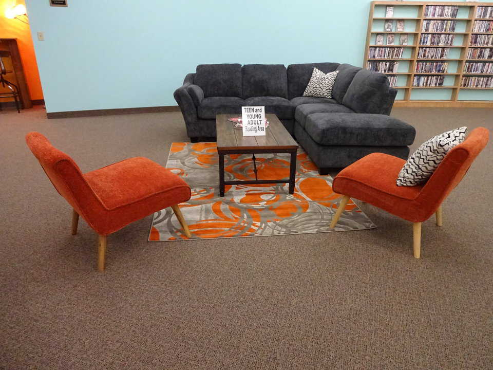 Kasson library teen and young adult reading area