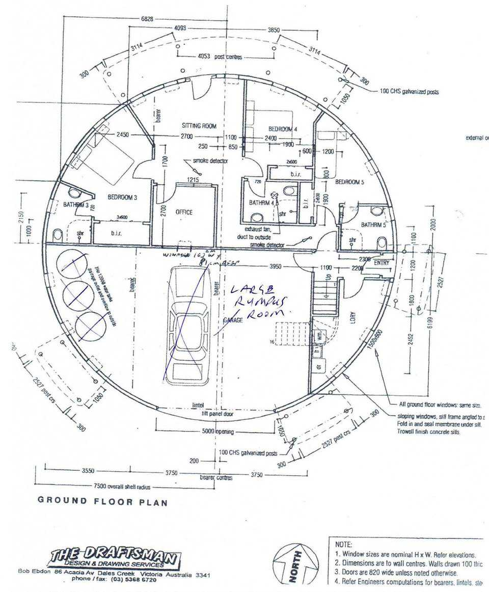Floor plan of the dome, shown here is the ground floor