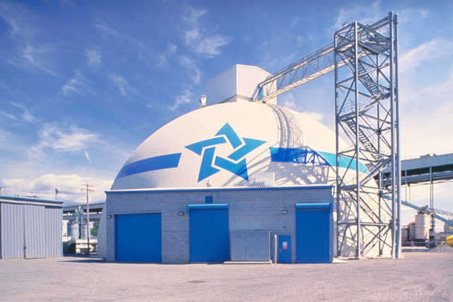 Cement storage dome