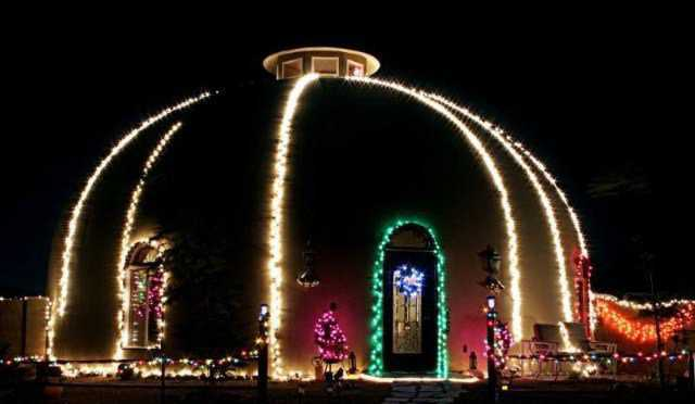 Dome Christmas lights
